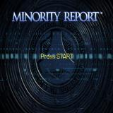 Minority Report: Everybody Runs PlayStation 2 The title screen