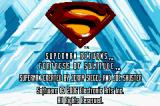Superman Returns: Fortress of Solitude Game Boy Advance Title screen.