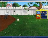 Dogz 4 Windows The garden. The player can plant seeds in the garden and watch them grow