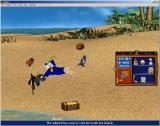 Dogz 4 Windows The South Sea Island background and a pirate playmate