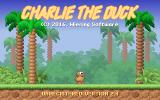 Charlie the Duck DOS Title screen (shareware version).