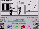 Andy Capp ZX Spectrum Walking along the street you pass various places including this police station