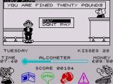 Andy Capp ZX Spectrum You are up in court for fighting and must decide whether to pay the fine or not