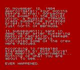 The Hunt for Red October NES Introduction Text