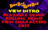 Bud Tucker in Double Trouble DOS Demo version: Main menu