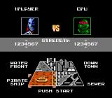 Teenage Mutant Ninja Turtles: Tournament Fighters NES Handicap options and level selection