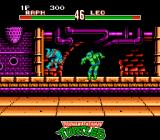 Teenage Mutant Ninja Turtles: Tournament Fighters NES Turtles jumping into the air