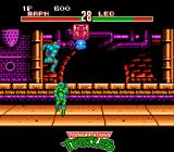 Teenage Mutant Ninja Turtles: Tournament Fighters NES The floating Splinter icon drops a powerball which can be flung in the opponent's face for high damage