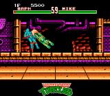 Teenage Mutant Ninja Turtles: Tournament Fighters NES Michaelangelo launches himself