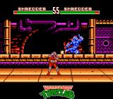 Teenage Mutant Ninja Turtles: Tournament Fighters NES Shredder Red VS Shredder Blue