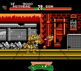 Teenage Mutant Ninja Turtles: Tournament Fighters NES The powerball is thrown into Donatello, defeating him