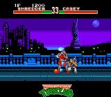 Teenage Mutant Ninja Turtles: Tournament Fighters NES Casey Jones traps Shredder with his energy move