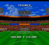 Championship Soccer '94 SNES Demo. Friendly match announcement.