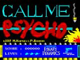 Call Me Psycho ZX Spectrum Loading Screen.