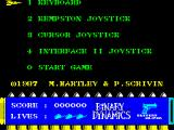Call Me Psycho ZX Spectrum Controls screen.