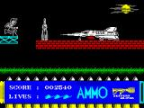 Call Me Psycho ZX Spectrum Mission 2: Supersonic prototype. I would like very much to blast it, but I don't think the game allows it...