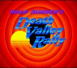 Road Runner's Death Valley Rally SNES Title screen