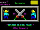 Behind Closed Doors 2: The Sequel ZX Spectrum The title screen