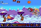 ToeJam & Earl in Panic on Funkotron Genesis Snow level