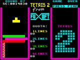 Tetris 2 ZX Spectrum Round 07 - three lines blocking a way down