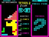 Tetris 2 ZX Spectrum Round 17 - only bricks need to be destroyed here