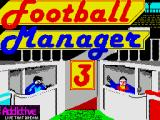 Football Manager 3 ZX Spectrum The title screen