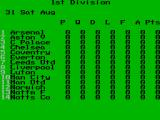 Football Manager 3 ZX Spectrum The computer on the manager's desk shows leagues, fixtures/results & history.<br>This is current status of Division 1