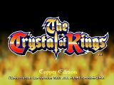 The Crystal of Kings Arcade Title screen