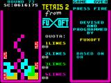Tetris 2 ZX Spectrum Round 73 - demolition of these bricks will take some while