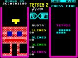 Tetris 2 ZX Spectrum Round 85 - almost each level is filled with some diagram
