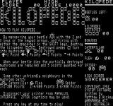 Kilopede Exidy Sorcerer Title screen