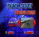 X-Bladez: Inline Skater PlayStation Track select. Pacific Blitz.