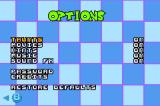 Dexter's Laboratory: Chess Challenge Game Boy Advance Options Menu
