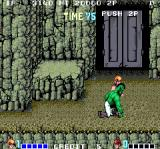 Double Dragon Arcade Now the bad guy is green and a little taller