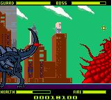Godzilla: The Series - Monster Wars Game Boy Color Against the second boss.