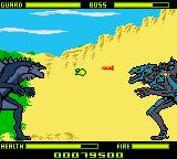 Godzilla: The Series - Monster Wars Game Boy Color That's the first Godzilla. She has high-tech miSile launchers installed.