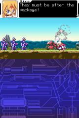 Mega Man ZX Nintendo DS 'The package'. Giving us a sense of mystery right from the get go. Unusual for a platformer.
