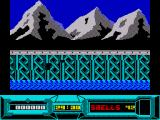 Battle Valley ZX Spectrum Driving across the bridge in preparation for battle
