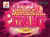 Dance Dance Revolution: Extra Mix PlayStation Title screen.