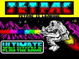 Jetpac ZX Spectrum Title screen