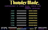 ThunderBlade Commodore 64 Title screen and scores