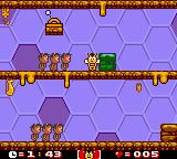 Maya the Bee & Her Friends Game Boy Color Level: Bee Hive Nursery. Only Maya can use the switches...