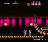 Kaizō Chōjin Shubibinman Zero SNES In a cave. This dragon looks like it escaped from a Castlevania game