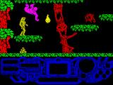 Rad Warrior ZX Spectrum Starting the game. Let's catch the rocks to use them as a throwing weapon.