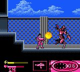 Saban's Power Rangers: Time Force Game Boy Color Against the 1st boss.