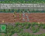 The Trouble with Robots Windows As the battle starts, a new card item is presented, with a text describing its use. The low right '1/3' indicates the number of enemy waves in the misson. (Demo)