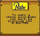 "Babe and Friends Game Boy Color First ""tip""..."