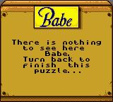Babe and Friends Game Boy Color Ok...