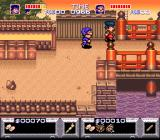 The Legend of the Mystical Ninja SNES 2-player in the village (zone 2)