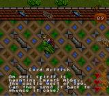 Ultima: Runes of Virtue II SNES Lord British has given the quest to vanquish an Evil Spirit.